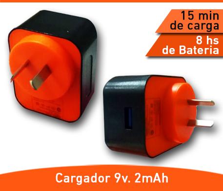 CARGADOR ONLY POTENCIADO 9V 2MAH. - Paris Distribuciones