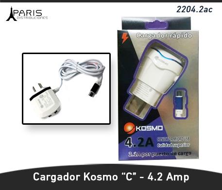 CARGADOR KOSMO 4.2 AMPER TIPO C